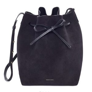 BNWT - Black Suede Mansur Gavriel Bucket Bag